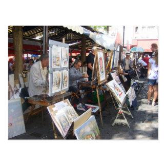 Paris - place of the Hillock-Montmartre - Postcard