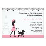 Paris Poodle Invitations