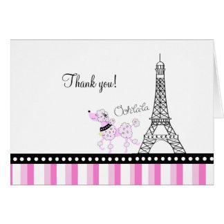 PARIS POODLE Ooh la la Folded Thank you note Stationery Note Card