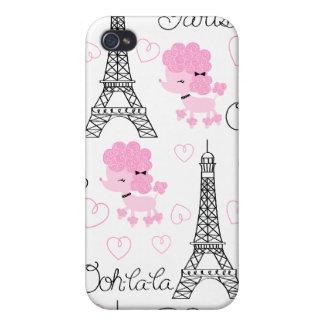 Paris Poodles iPhone 4/4S Covers