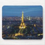 París por el mousepad de la noche tapetes de ratón