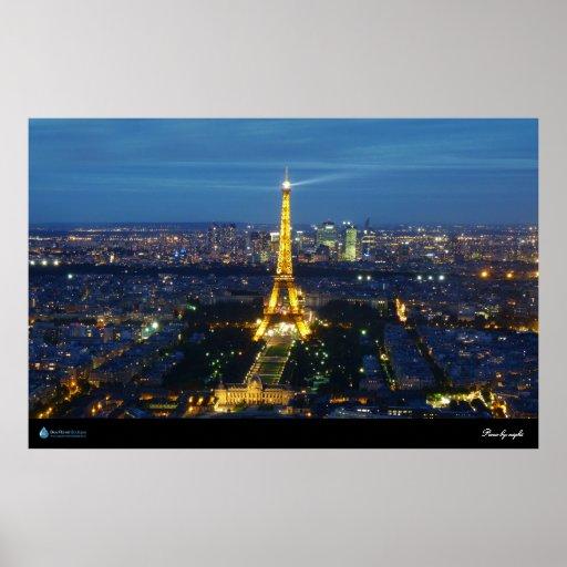 París por el poster de la noche