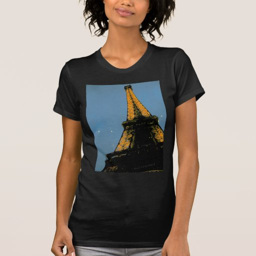 París por la noche, viaje Eiffel Camiseta