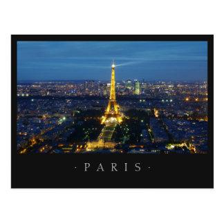 París por la postal de la noche