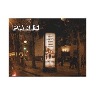 París por noche, Avenue de Champs Elysees Impresiones En Lona Estiradas
