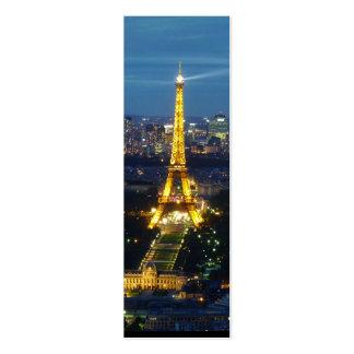 París por noche - torre Eiffel - señal Plantillas De Tarjetas Personales