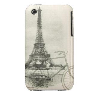 París por técnicas mixtas de la bicicleta iPhone 3 carcasa