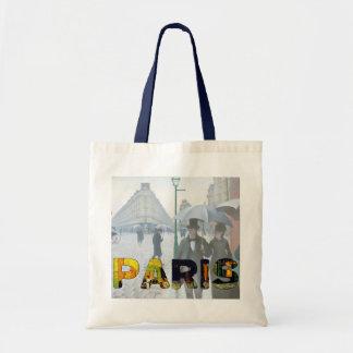París por Van Gogh y el bolso de Caillebotte Bolsa Tela Barata