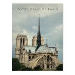 París, postal de la catedral de Notre Dame