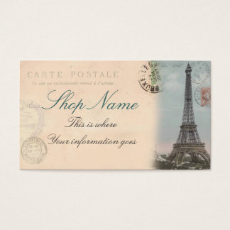 Paris Postcard Business Card