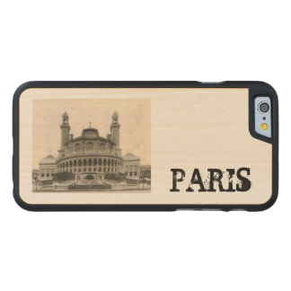 Paris Postcard from around 1905 The Tracadero Carved® Maple iPhone 6 Case