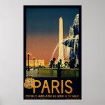 París, poster del viaje del vintage