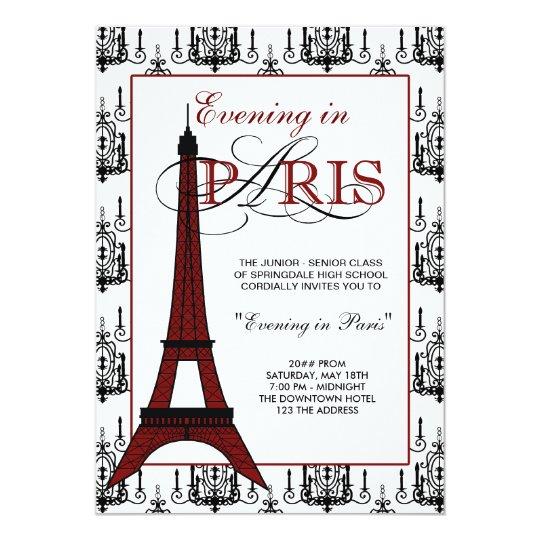 Paris Prom Invitations