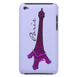 Paris, purple Eiffel tower Barely There iPod Cover