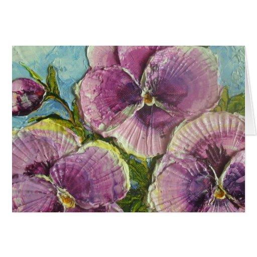 Paris' Purple Pansies Card