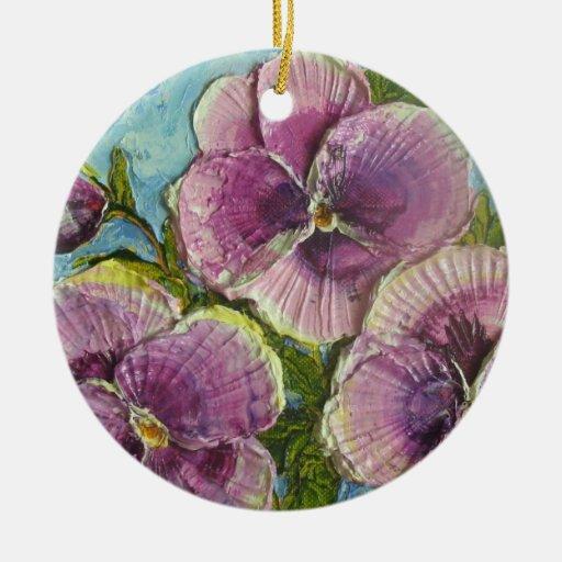 Paris' Purple Pansies Ornament