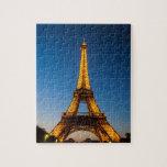 """Paris puzzle - Eiffel Tower #8<br><div class=""""desc"""">A puzzle representing the Eiffel Tower with the sunset</div>"""