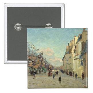 Paris, Quai de Bercy, Snow Effect, c.1873-74 Pinback Buttons