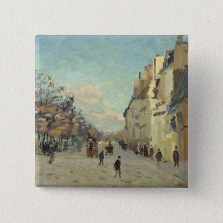 Paris, Quai de Bercy, Snow Effect, c.1873-74 Pinback Button