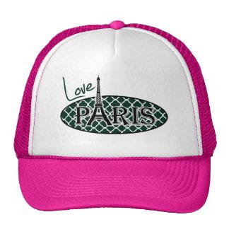 París; Quatrefoil verde oscuro Gorro