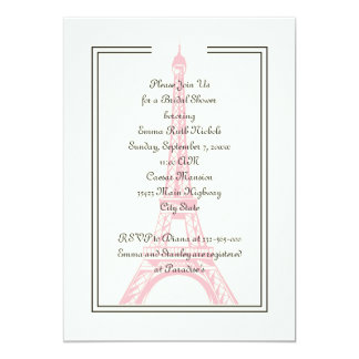 París que casa la ducha nupcial de la torre Eiffel Invitacion Personal
