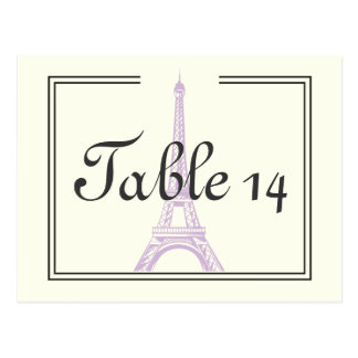 París que casa número púrpura de la tabla de la postal