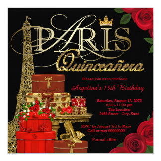 Paris Quinceanera Card