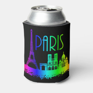 Paris Rainbow Monuments Eiffel Tower Can Cooler