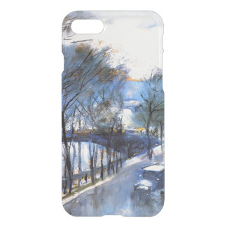 Paris, Rainy Day at the Quai Voltaire, 1928 art iPhone 8/7 Case