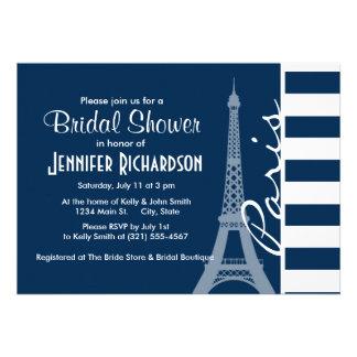 París; Rayas horizontales azules de medianoche osc