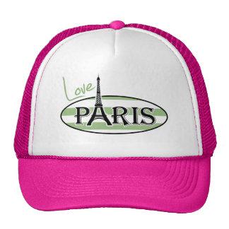 París; Rayas horizontales verdes del laurel Gorros Bordados