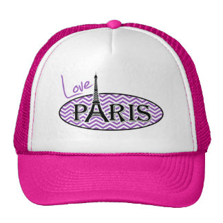París; Rayas profundas de Chevron de la lila Gorros