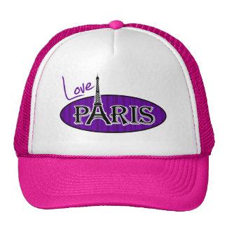 París; Rayas verticales violetas oscuras Gorra