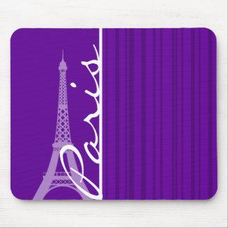 París; Rayas verticales violetas oscuras Alfombrillas De Ratones