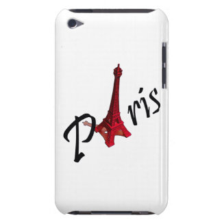 Paris, red Eiffel tower iPod Touch Case