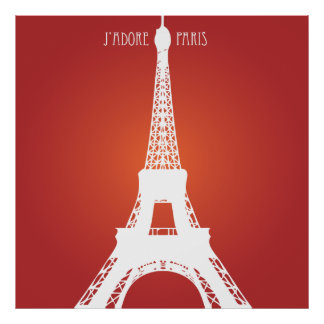 Paris Red Love Poster