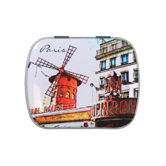 Paris - red moulen rouge jelly belly candy tins