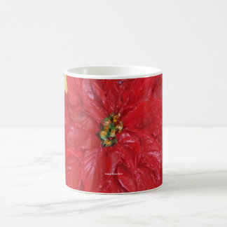 Paris' Red Poinsettia Coffee Mug