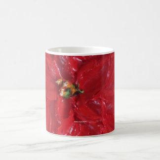 Paris' Red Poinsettia Coffee Mugs
