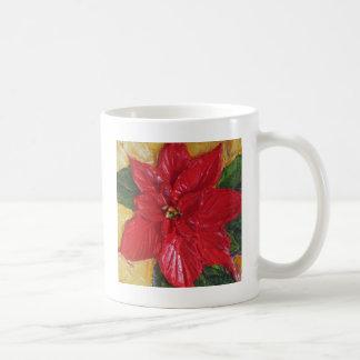 Paris' Red Poinsettia Mugs