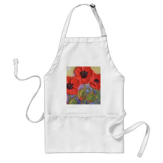 Paris' Red Poppies Adult Apron