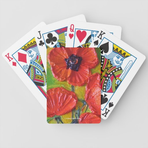Paris' Red Poppies Cards Bicycle Playing Cards