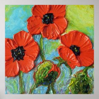 Paris' Red Poppies Fine Art Poster