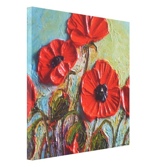 Paris' Red Poppies Gallery Wrap Canvas Print