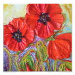 Paris' Red Poppies II Fine Art Poster Photo Print