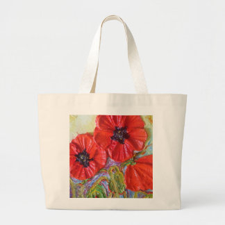 Paris' Red Poppies II Large Tote Bag