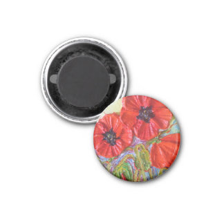 Paris' Red Poppies II Magnet