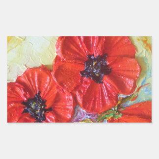 Paris' Red Poppies II Sticker