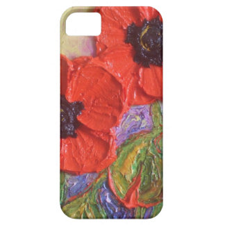 Paris' Red Poppies iPhone 5 Case