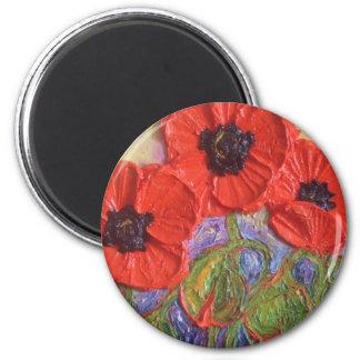Paris' Red Poppies Magnet